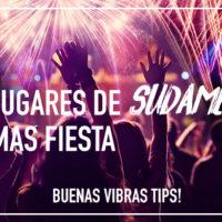Los lugares de Sudamérica con más fiesta
