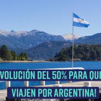 Devolución del 50% para quienes viajen por Argentina