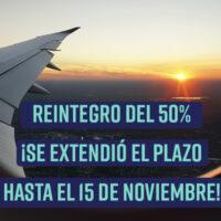 Previaje: se extendió hasta el 15 de noviembre el plazo para acceder al reintegro del 50%