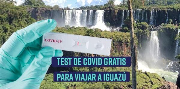 test gratis de covid para viajar a Iguazú
