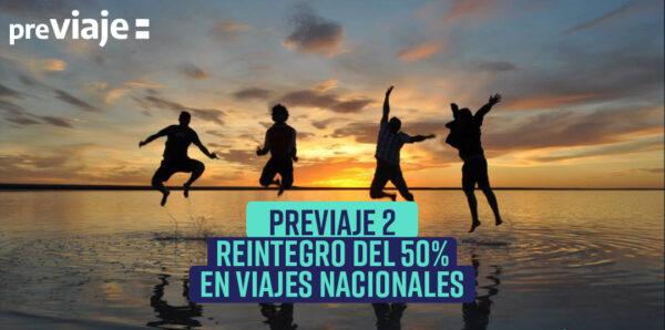Previaje 2. Reintegro del 50% en viajes nacionales